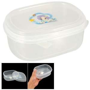 Clear White Plastic Food Storage Container Box