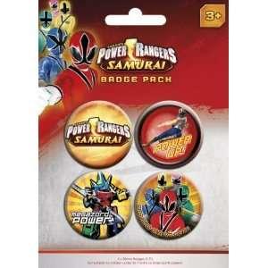 Power Rangers Samurai   4 Piece Button / Pin / Badge Set