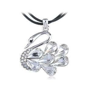 Borealis Bodied Pure Swan Swarovski Crystal Element Necklace Jewelry