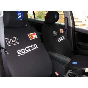 Racing Universal Car Seat Cover   10pcs Full Setblack Automotive