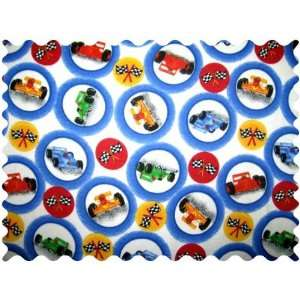 Race Car Circles Fabric   By The Yard Baby