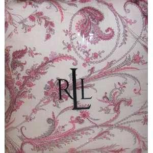 Ralph Lauren Newburyport 4 Piece Queen Comforter Set Pink Blue Brown