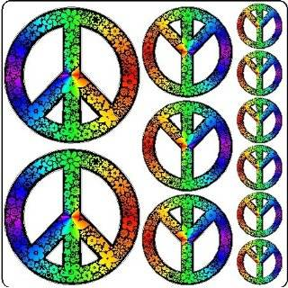 Rainbow Peace Symbol Sticker Decal Removable Wall Art