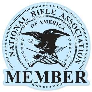 NRA member Guns rifles pistol car bumper sticker 4 x 4