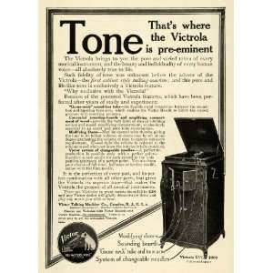 Cabinet Nipper Features Talking Machine   Original Print Ad: Home