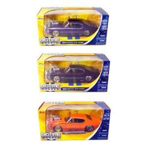 Pontiac GTO Judge 1:24 Scale (Black, Orange and Purple): Toys & Games