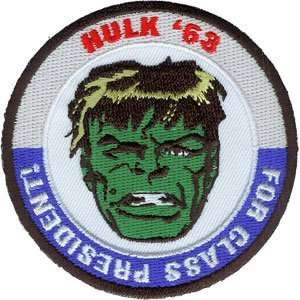 Marvel Comics Hulk For President Embroidered Iron On Patch