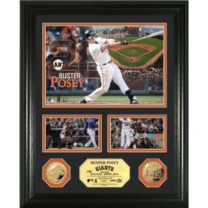 Posey Framed San Francisco Giants Gold Coin Showcase Photo Mint