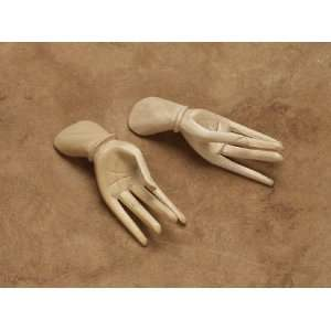 Pair of Small Wooden Hands