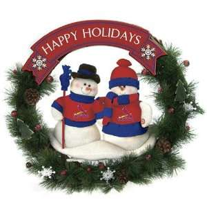 St. Louis Cardinals MLB Snowman Christmas Wreath (20)