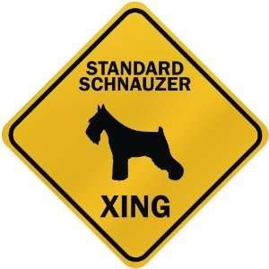 ONLY  STANDARD SCHNAUZER XING  CROSSING SIGN DOG