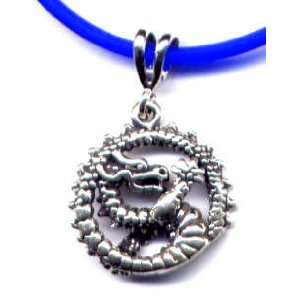 16 Blue Dragon Necklace Sterling Silver Jewelry