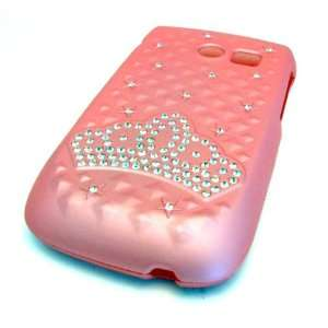Samsung R375c Straight Talk Matte Baby Pink Crown Jewel Design HARD