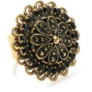 Liz Palacios Piedras Swarovski Button Ring, Size 7 Jewelry