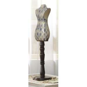 Blue & White Dress Form Mannequin Table Accent