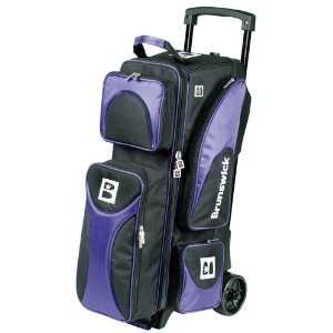 Brunswick Flash 2 Ball Roller Black/Purple Sports