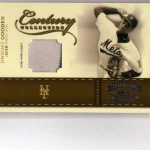 2004 Donruss Throwback Threads Century Collection Dwight Gooden Jersey