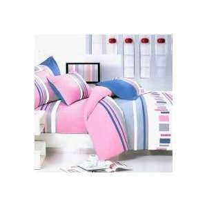 Bedding   [Pink Abstract] 100% Cotton 4PC Duvet Cover Set (Full