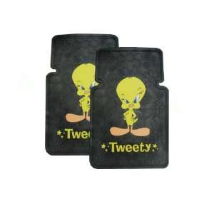 Universal Fit Front Rubber Floor Mats   Looney Tunes Tweety Bird Stars