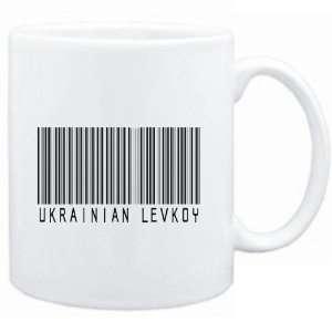 Mug White  Ukrainian Levkoy BARCODE  Cats Sports