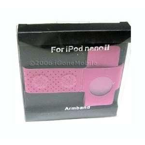 Hot Pink Sport Arm Band Apple iPod Nano 1st 2nd Gen