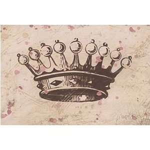 Vintage Crown (Chocolate) Canvas Reproduction: Kitchen