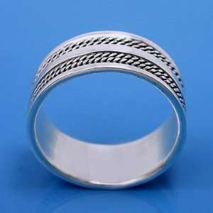 6.34 grams 925 Sterling Silver Vintage Band Ring size 10