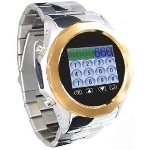 Metal Watch Cell Phone Mobile Unlocked CameraAT&T Q999B