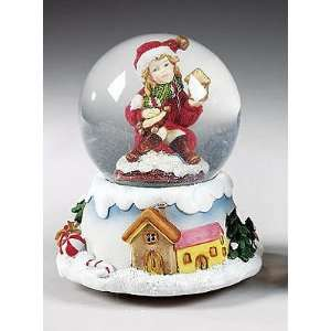 6.5 Festive Wind Up Musical Christmas Snow Globe #335159