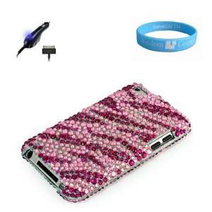 Pink Zebra Rhinestone Cover for Latest Generation Apple iPod Touch
