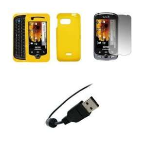 Samsung Moment M900   Premium Yellow Soft Silicone Gel