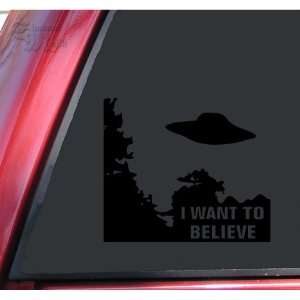 Files I Want To Believe Vinyl Decal Sticker   Black
