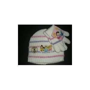 Disney Princess girls hat and glove set (white w