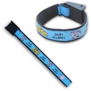 Dairy Milk Allergy Health Wrist Band Bracelet Blue Health