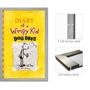 Silver Framed Diary Wimpy Kid Poster Dog Days J Kinney