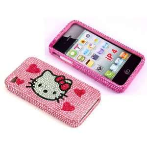 Smile Case Hello Kitty Pink Hearts Bling Rhinestone Crysal