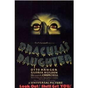 Draculas Daughter 1936 27x40 Style B MOVIE POSTER