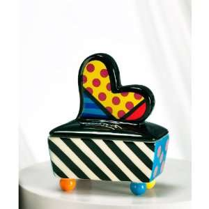 Romero Britto Trinket Boxes, Choose Butterfly or Heart