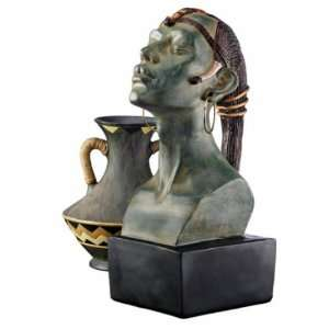 Nubian Princess Bust Sculpture: Home & Kitchen