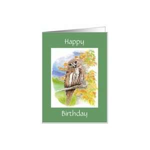 Happy Birthday   Owl   Getting Older Card Health