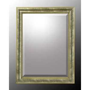 Gold and Silver Wood Frame Bevel Mirror