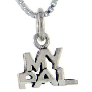 925 Sterling Silver My Pal Talking Pendant (w/ 18 Silver