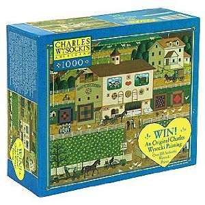 Americana   Hi Neighbor   1000 Pc Jigsaw Puzzle: Toys & Games