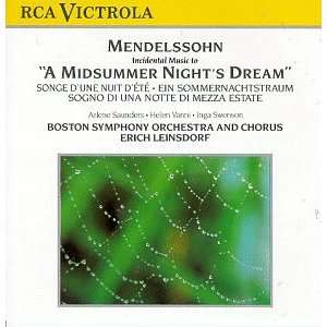Midsummer Nights Dream Mendelssohn, Leinsdorf, Bso Music