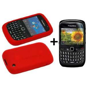 Red Silicone Soft Skin Case Cover for Blackberry Curve 8520 / 8530