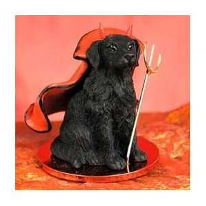 Flat Coated Retriever Little Devil Dog Figurine Home & Kitchen