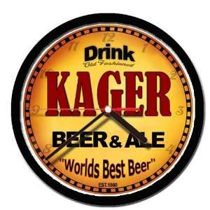 KAGER beer and ale cerveza wall clock: Everything Else