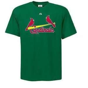 St. Louis Cardinals Majestic Green St. Patricks Day T