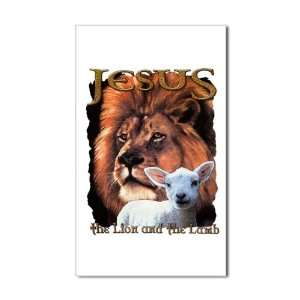 Sticker (Rectangle) Jesus The Lion And The Lamb: Everything Else