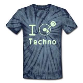 Rave / I heart Techno Music Rave DJ Tuntable Vinyl Motif T Shirts